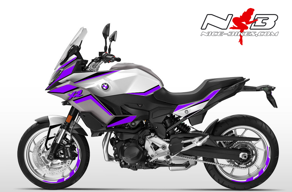 Foliendesign BMW F900 XR Manga Violett