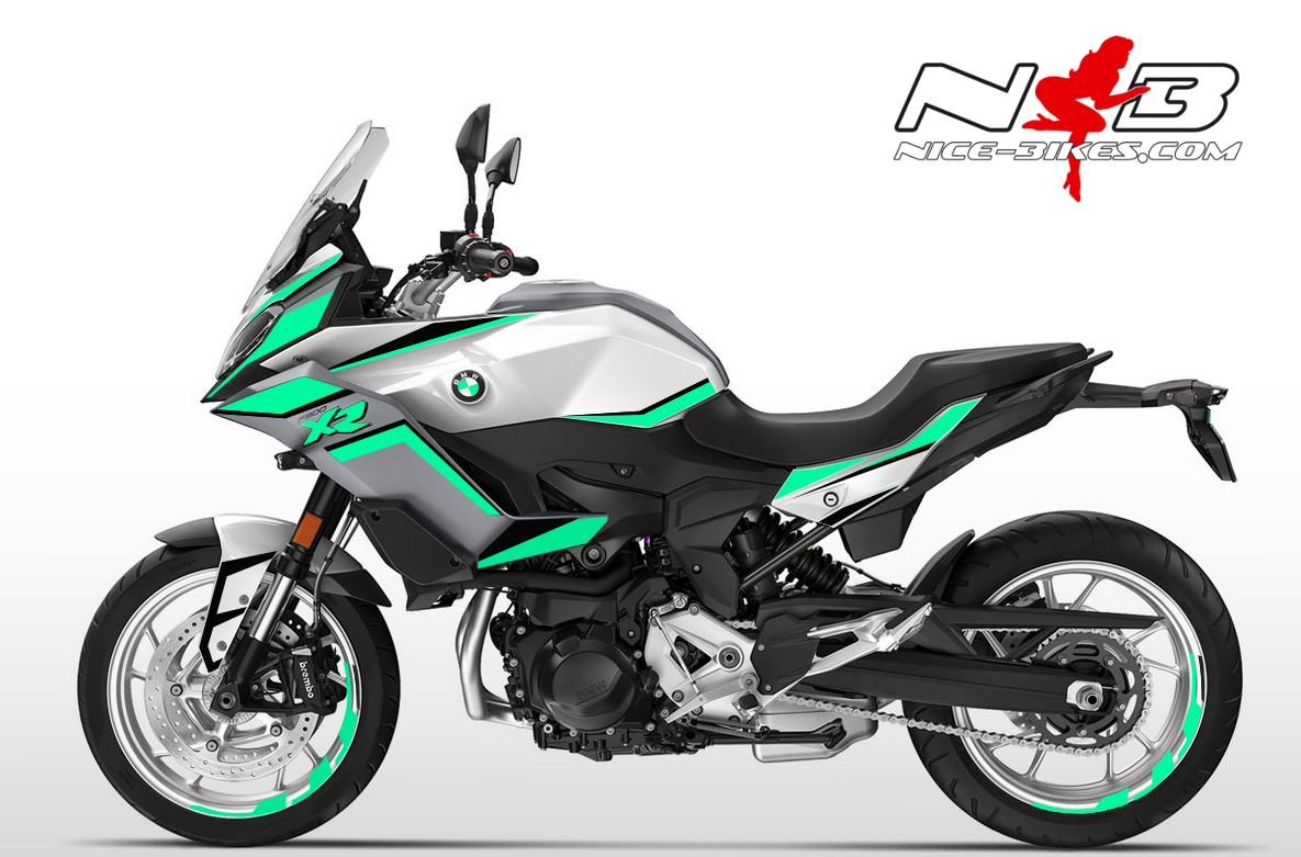 Foliendesign BMW F900 XR Mint Blue
