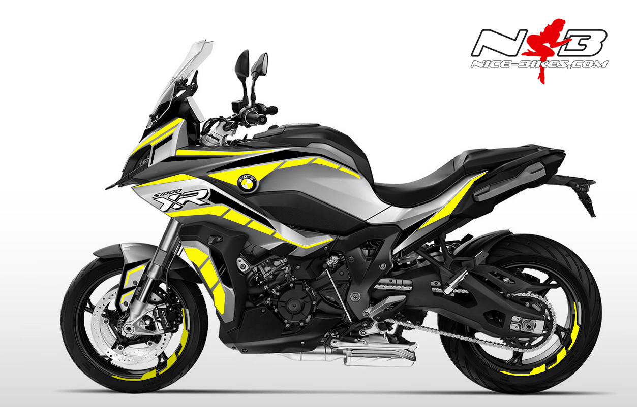 Foliendesign BMW S1000 XR (Bj. 2020) Hornet Yellow
