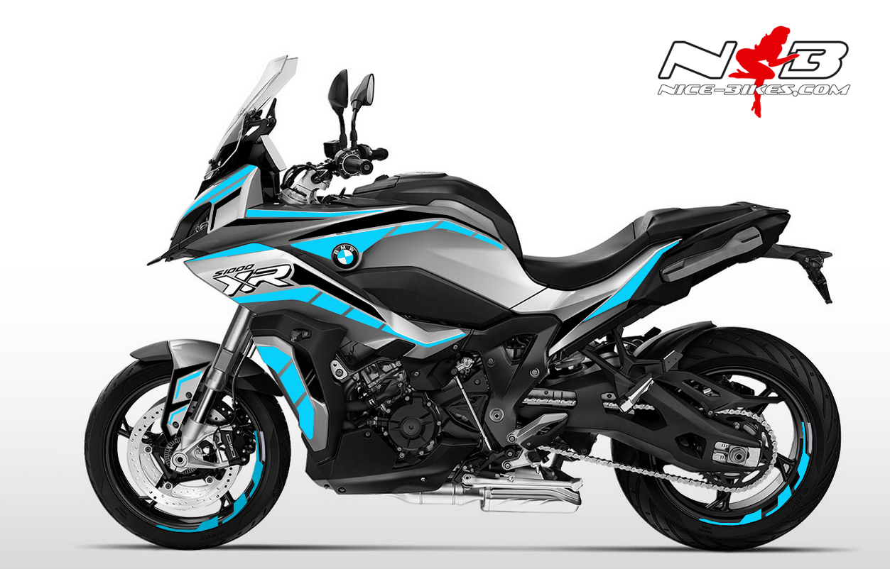 Foliendesign BMW S1000 XR (Bj. 2020) Light Blue