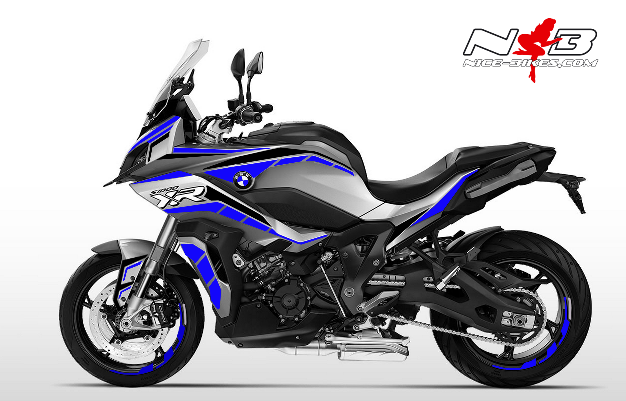 Foliendesign BMW S1000 XR (Bj. 2020) Racing Blue