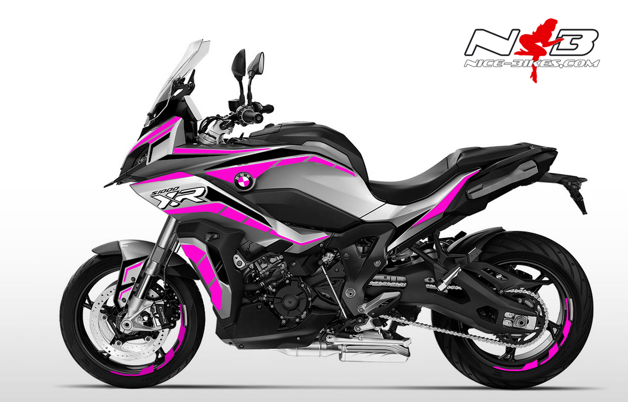 Foliendesign BMW S1000 XR (Bj. 2020) Pretty Pink
