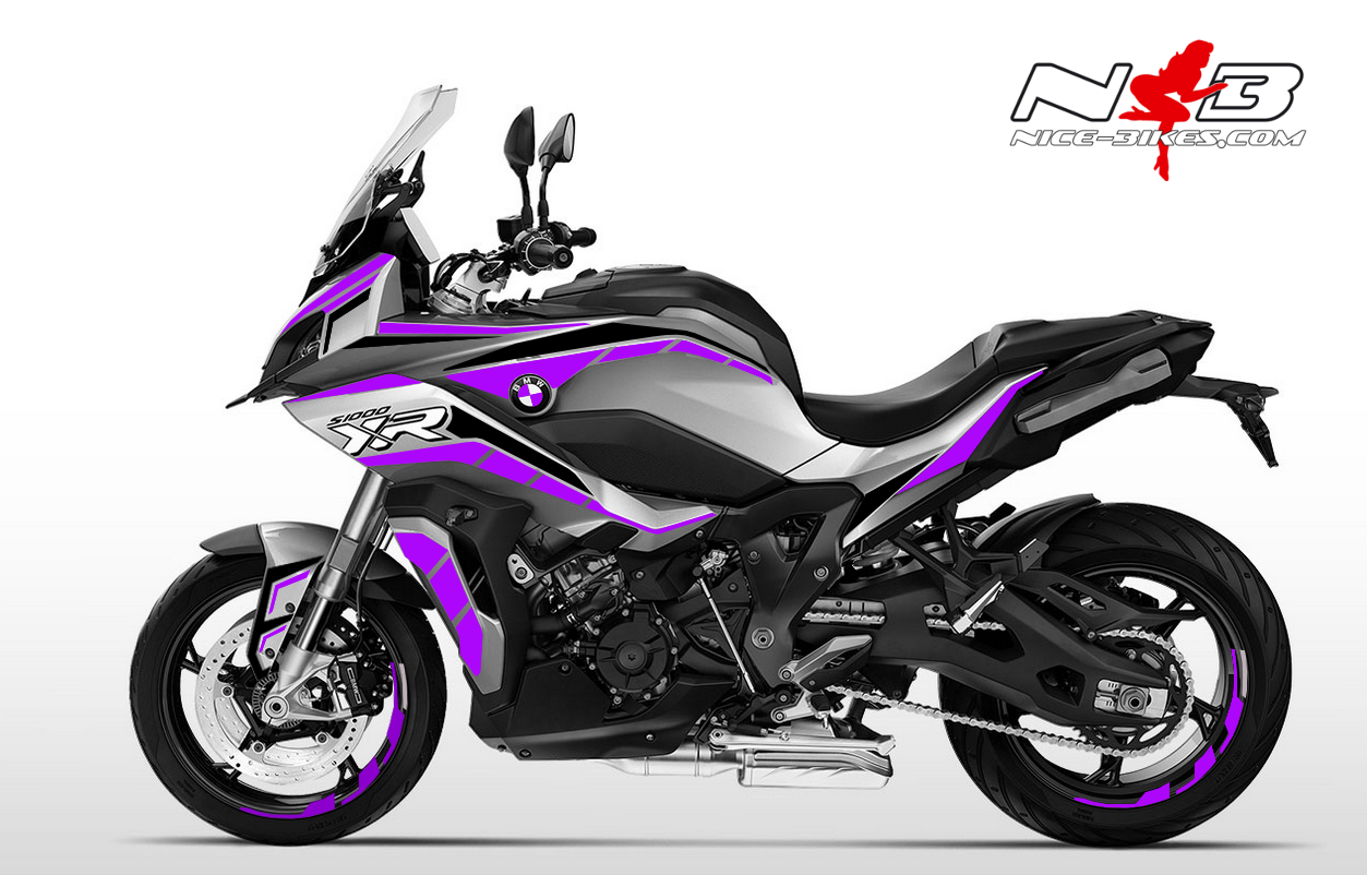 Foliendesign BMW S1000 XR (Bj. 2020) Manga Violett