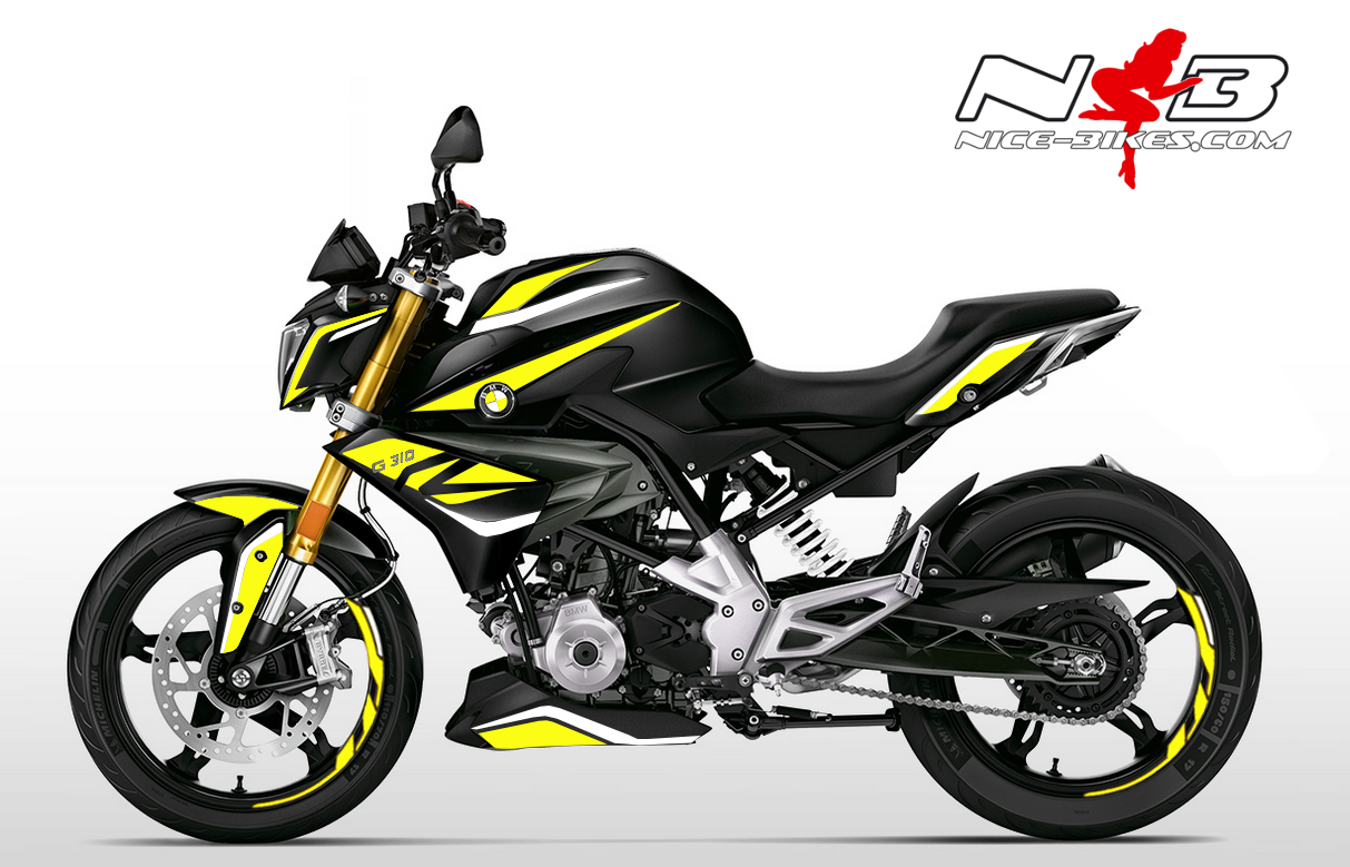 Foliendesign BMW G310R (Bj. 2020) Hornet Yellow