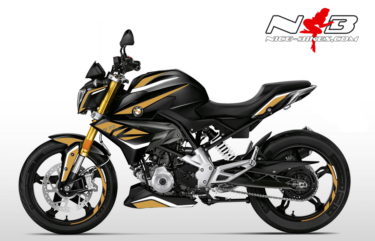 Foliendesign BMW G310R (Bj. 2020) Olympic Gold