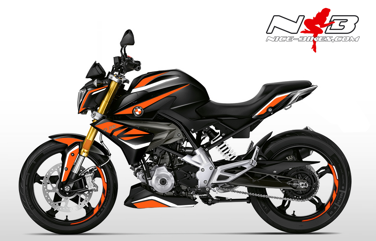 Foliendesign BMW G310R (Bj. 2020) Evil Orange