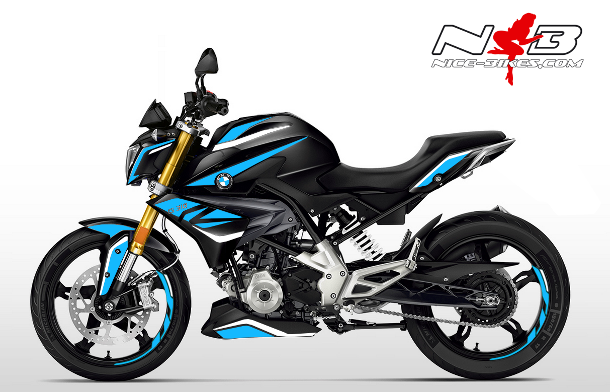 Foliendesign BMW G310R (Bj. 2020) Light Blue