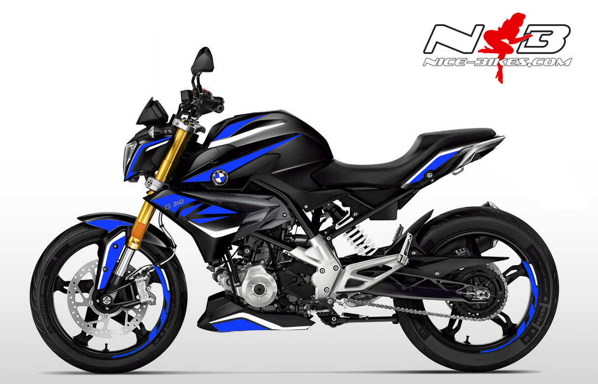Foliendesign BMW G310R (Bj. 2020) Racing Blue