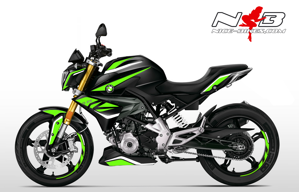 Foliendesign BMW G310R (Bj. 2020) Lime-Green