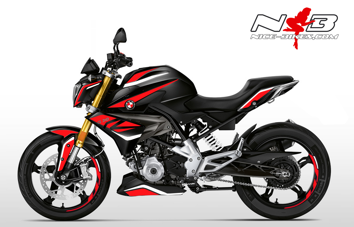 Foliendesign BMW G310R (Bj. 2020) Racing Red