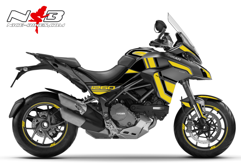 Foliendesign DUCATI Multistrada 1260S Hornet Yellow