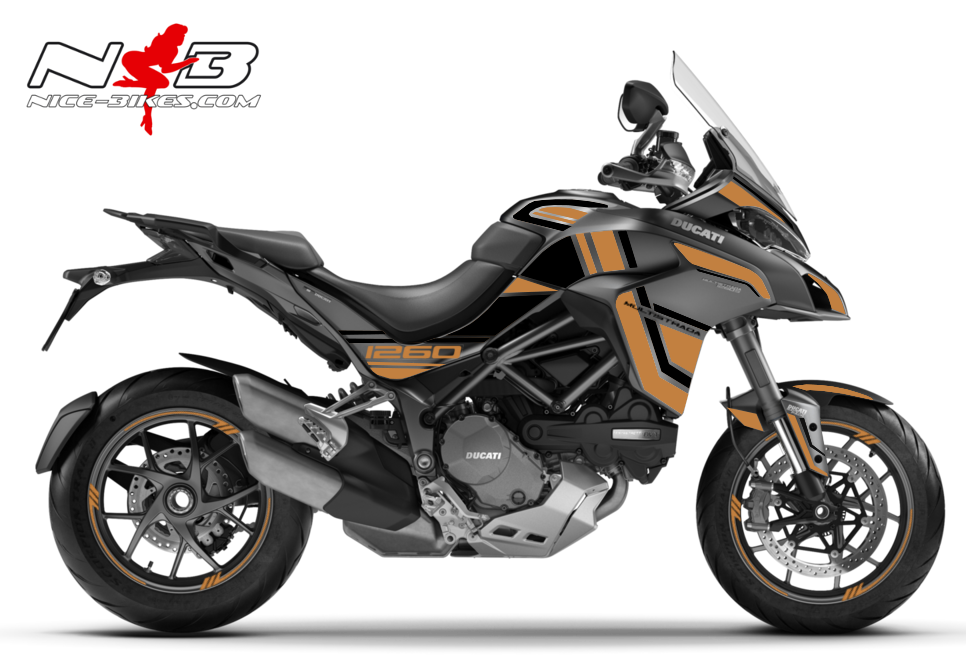 Foliendesign DUCATI Multistrada 1260S Olympic Gold