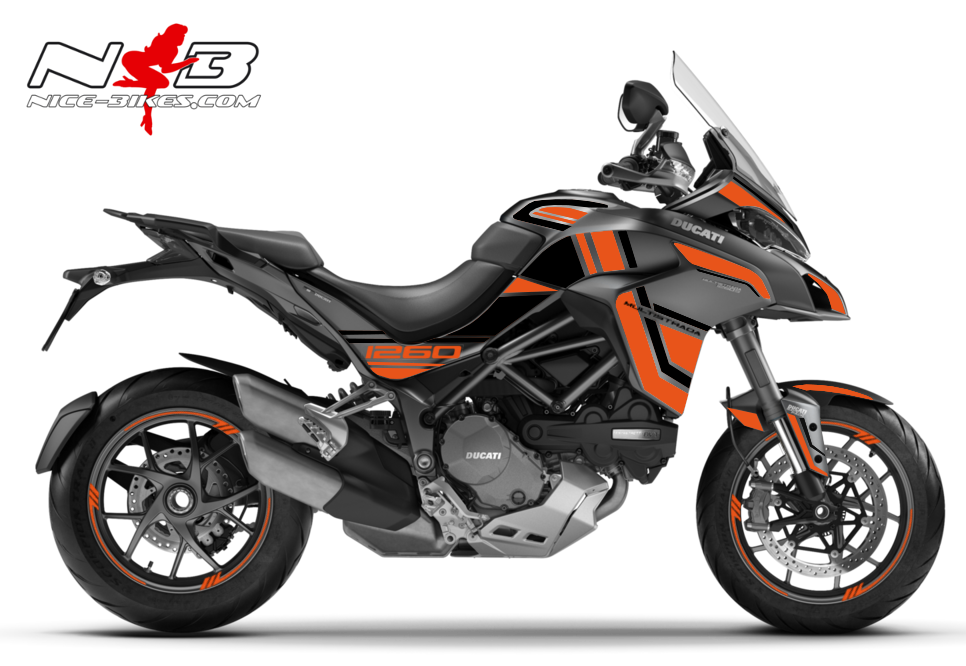 Foliendesign DUCATI Multistrada 1260S Evil Orange