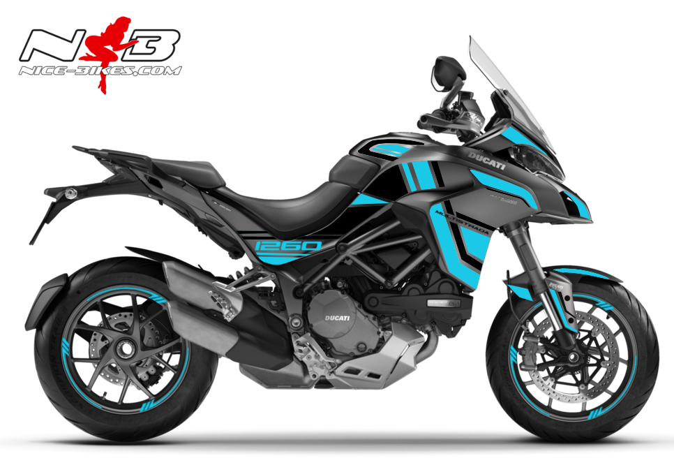 Foliendesign DUCATI Multistrada 1260S Light Blue
