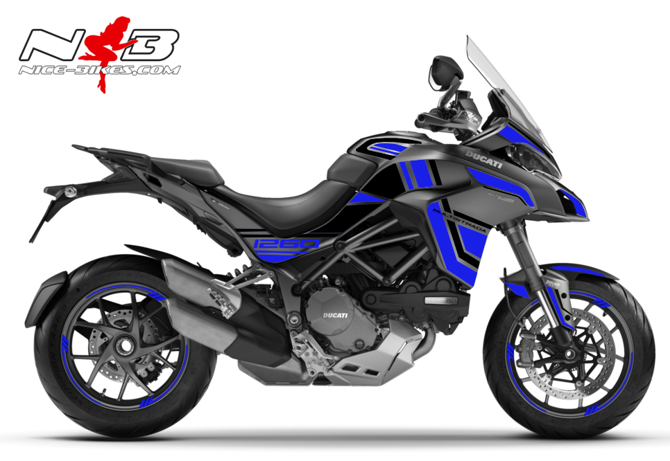 Foliendesign DUCATI Multistrada 1260S Racing Blue
