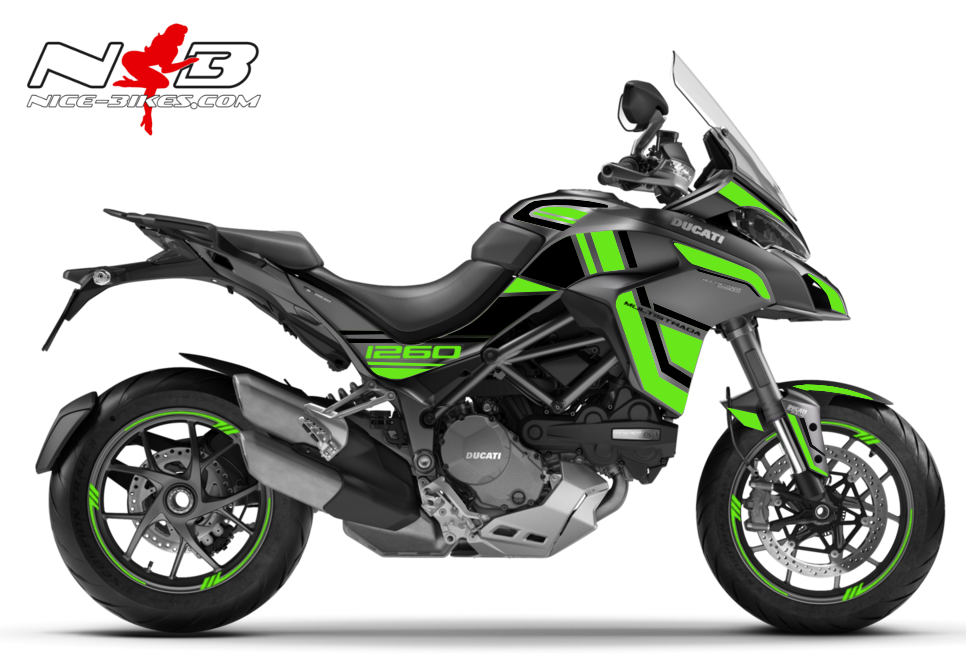 Foliendesign DUCATI Multistrada 1260S Lime Green
