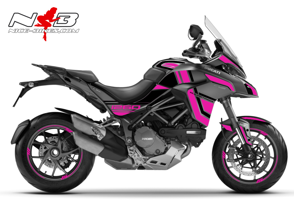 Foliendesign DUCATI Multistrada 1260S Pretty Pink