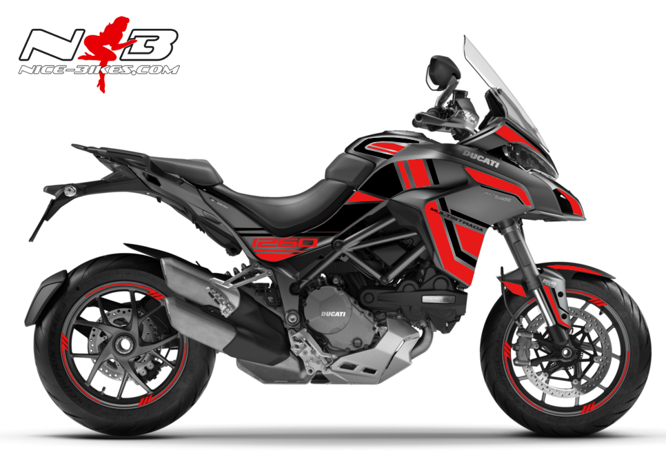 Foliendesign DUCATI Multistrada 1260S Racing Red