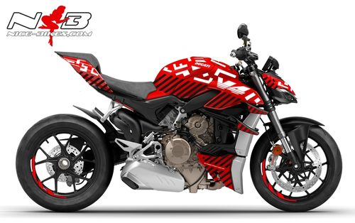 Foliendesign DUCATI Streetfighter V4S Inferno Black White