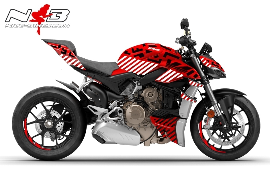 Foliendesign DUCATI Streetfighter V4S Inferno White 1