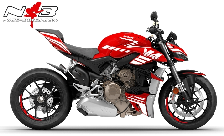 Foliendesign DUCATI Streetfighter V4S Speed White