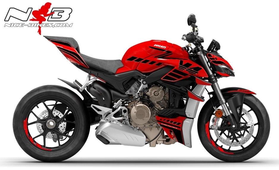 Foliendesign DUCATI Streetfighter V4S Speed Black
