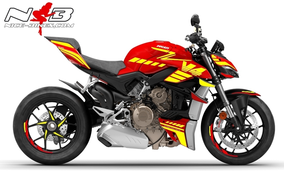 Foliendesign DUCATI Streetfighter V4S Speed Neongelb