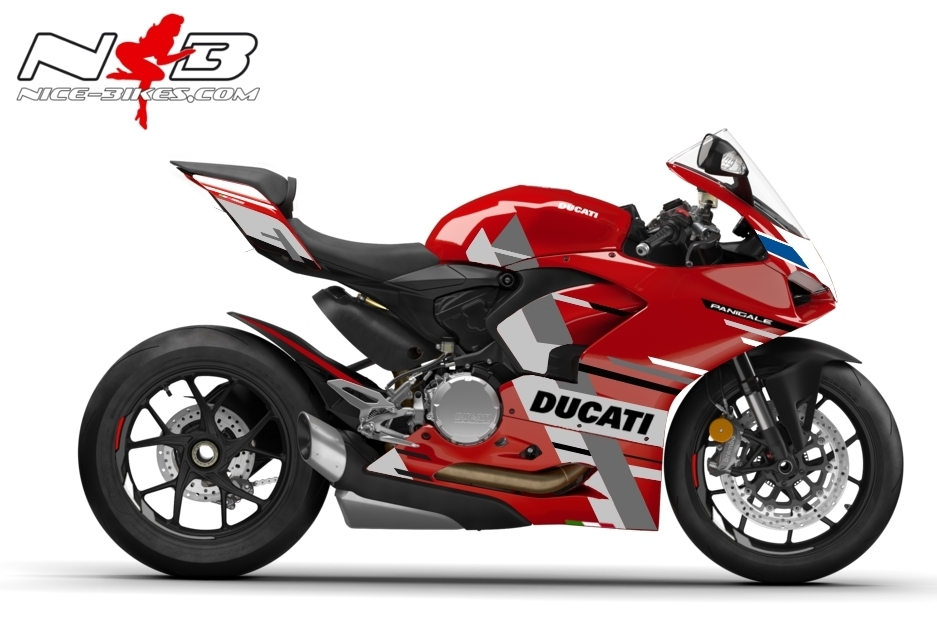 Foliendesign DUCATI V2 (Bj. 2020) Color Line