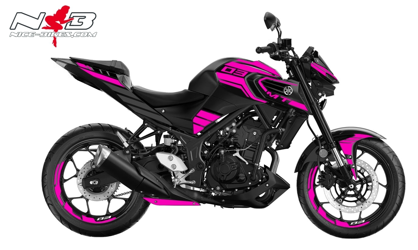 Foliendesign YAMAHA MT03 Bj. 2020 Pretty Pink
