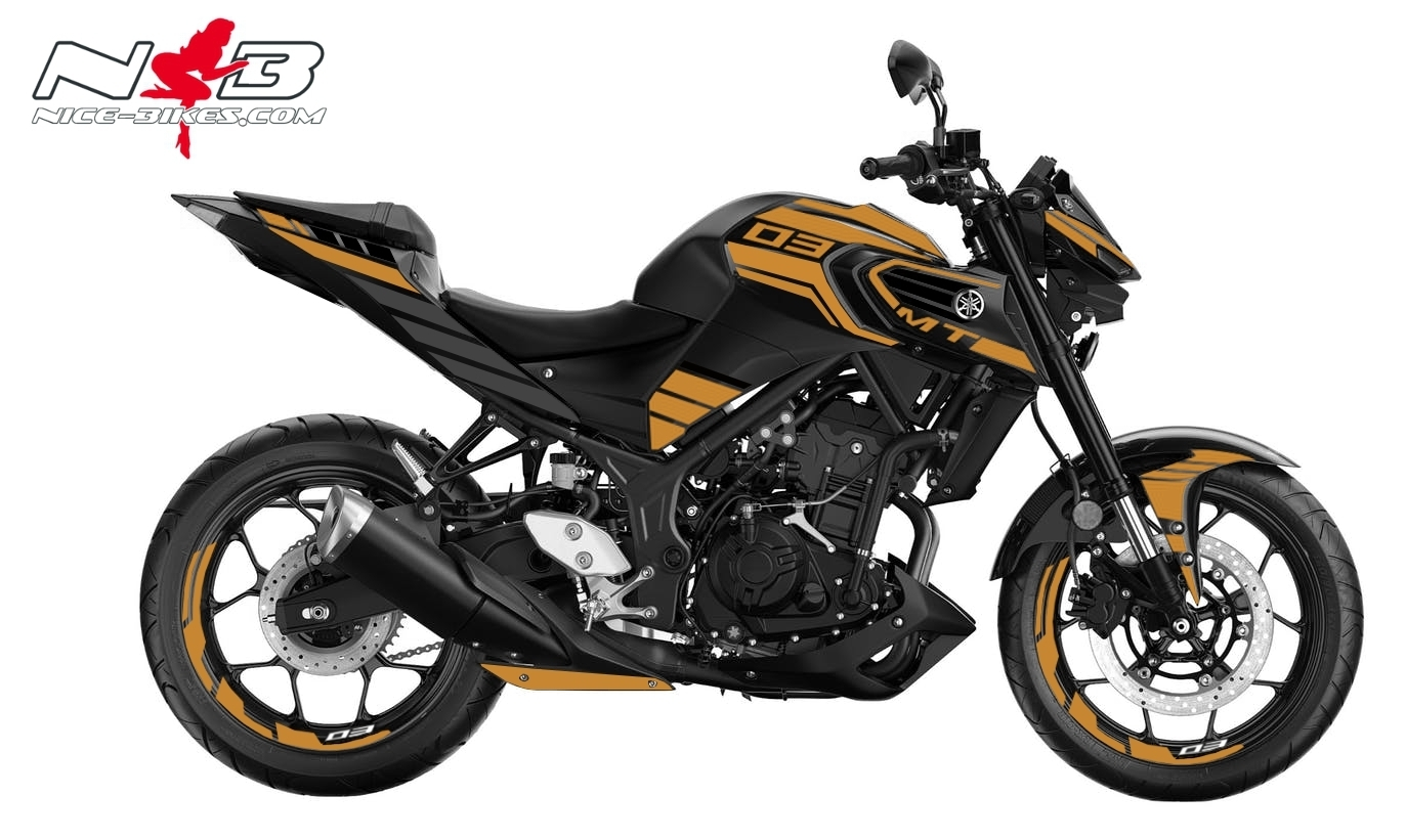 Foliendesign YAMAHA MT03 Bj. 2020 Olympic Gold
