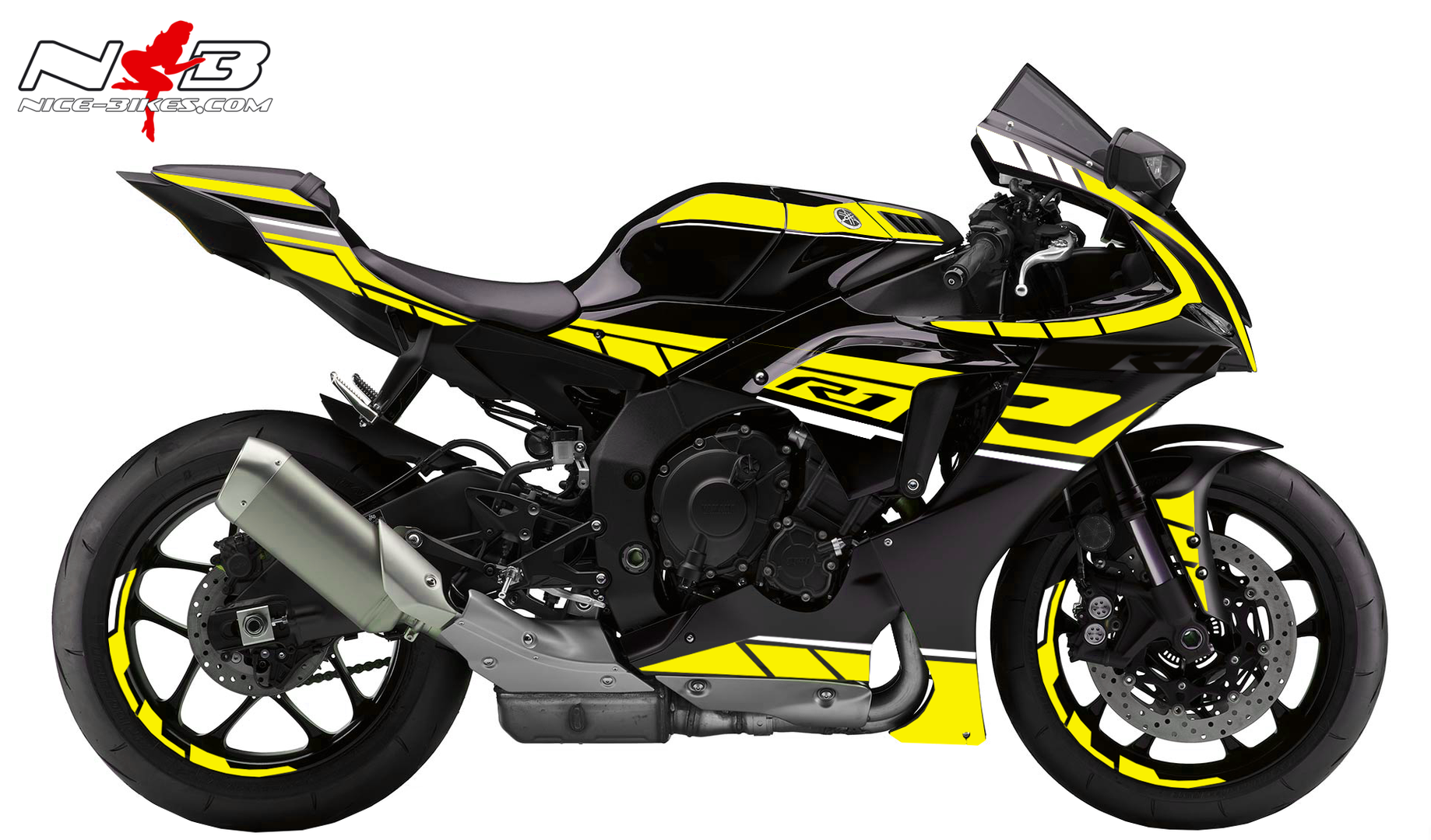Foliendesign YAMAHA R1 Bj. 2020 Hornet Yellow
