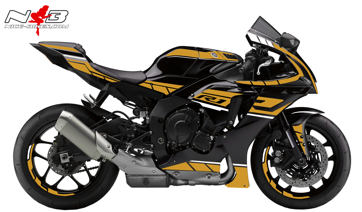Foliendesign YAMAHA R1 Bj. 2020 Olympic Gold
