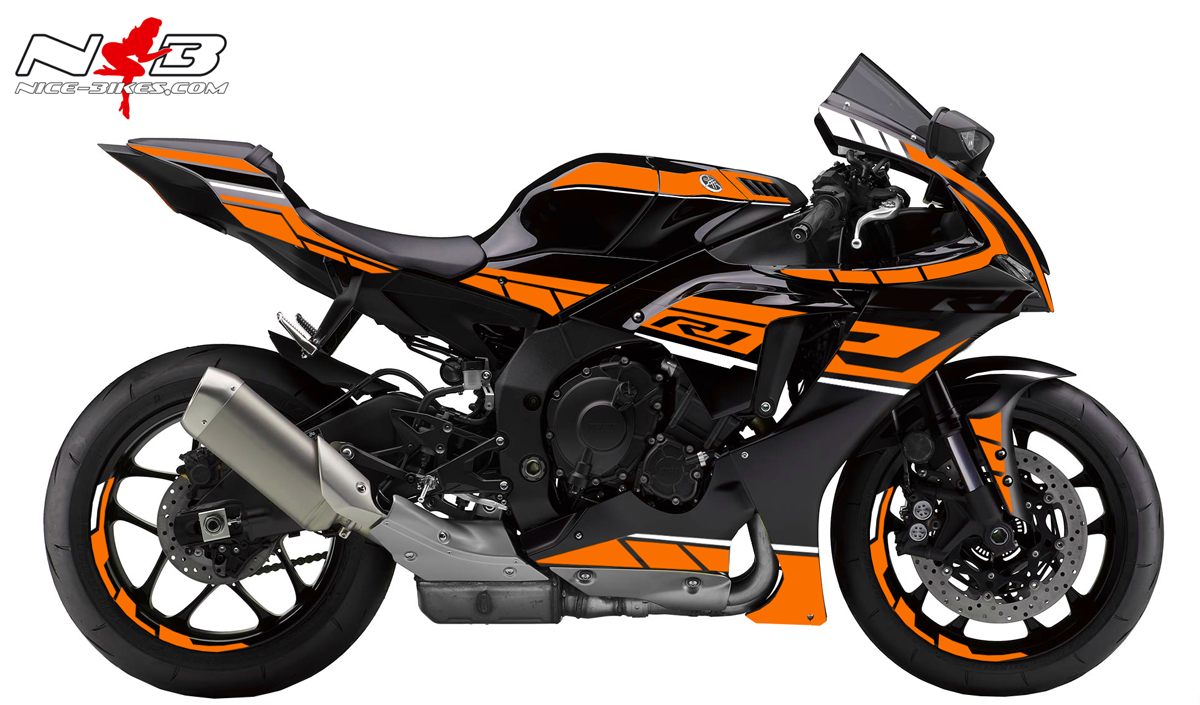 Foliendesign YAMAHA R1 Bj. 2020 Evil Orange