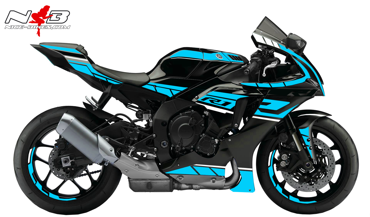 Foliendesign YAMAHA R1 Bj. 2020 Light Blue