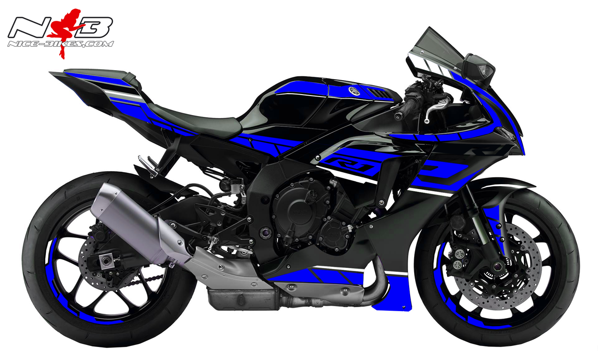 Foliendesign YAMAHA R1 Bj. 2020 Racing Blue