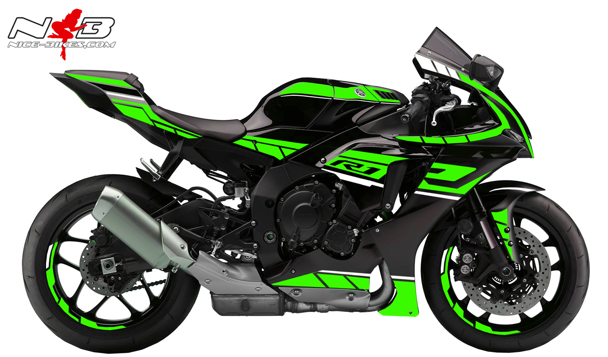 Foliendesign YAMAHA R1 Bj. 2020 Lime Green