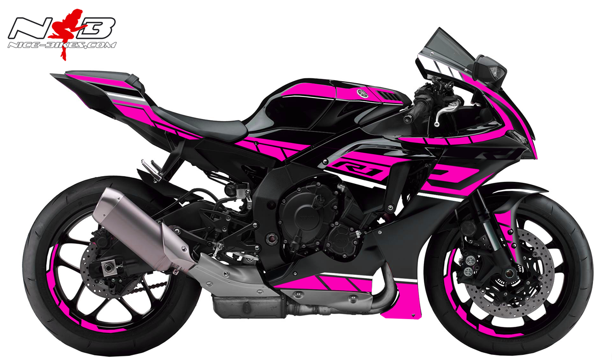 Foliendesign YAMAHA R1 Bj. 2020 Pretty Pink