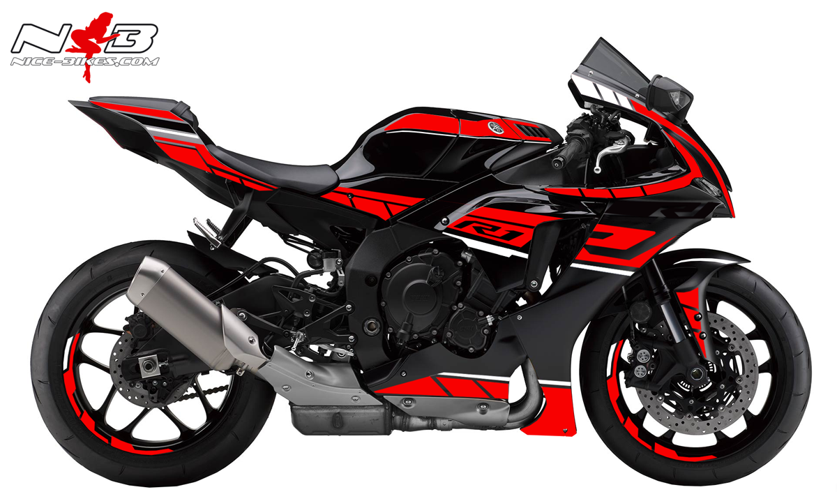 Foliendesign YAMAHA R1 Bj. 2020 Racing Red