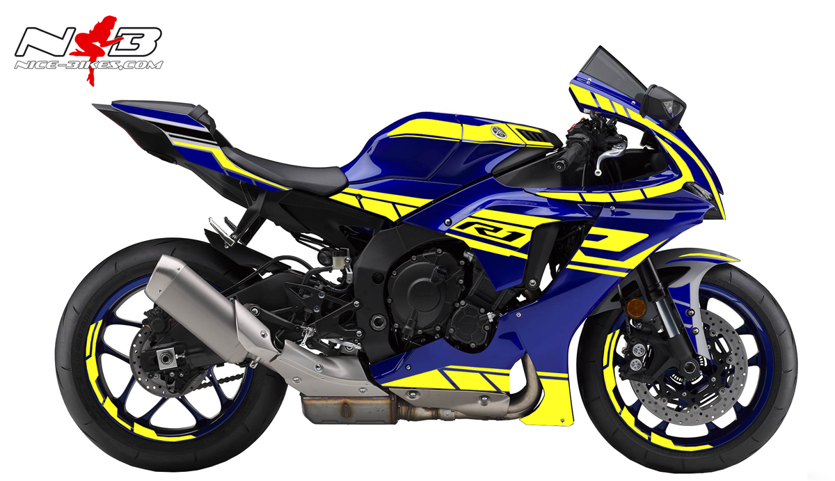 Foliendesign YAMAHA R1 Bj. 2020 Neon Yellow