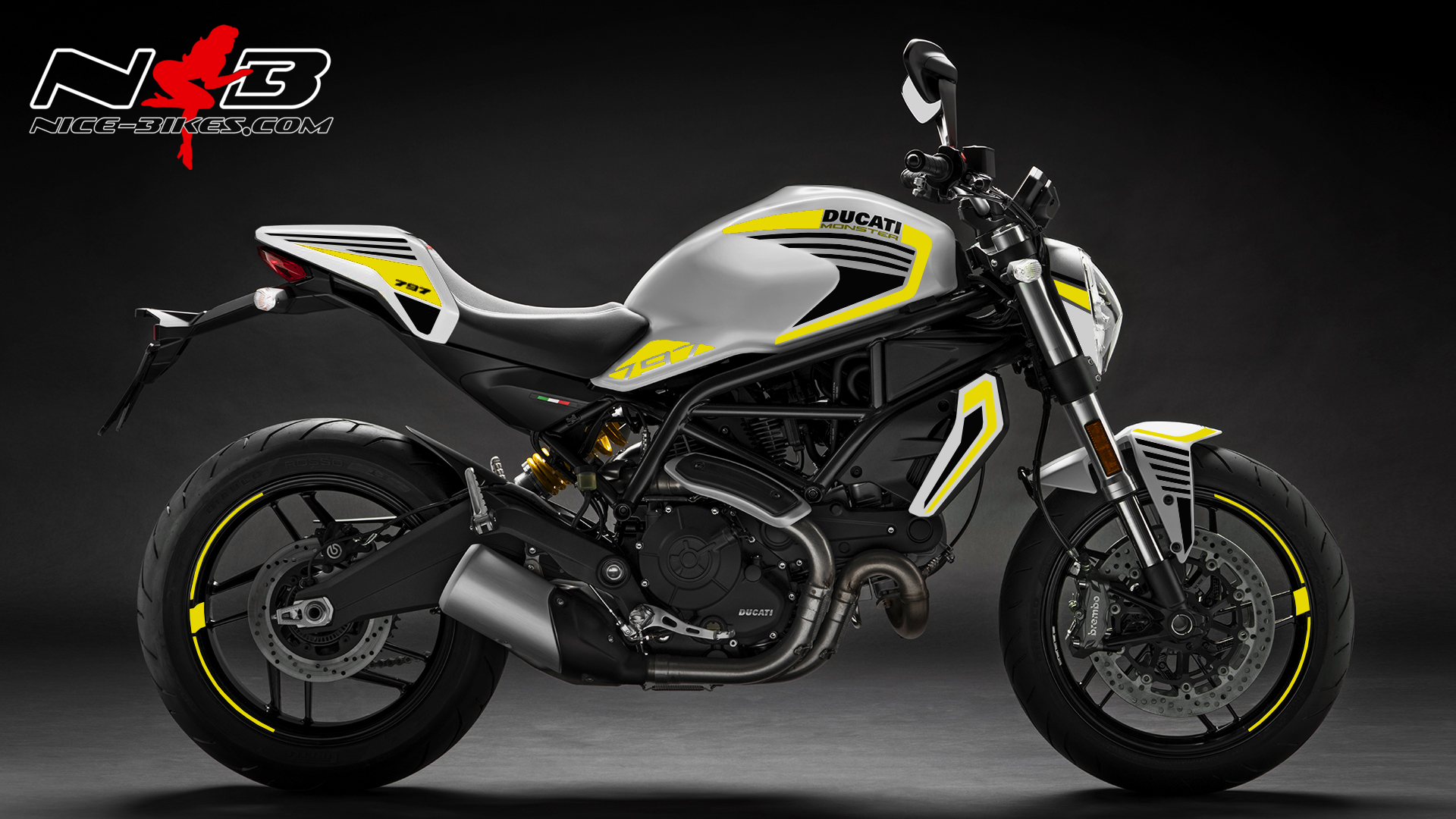 Foliendesign DUCATI  Monster 797 Bj. 2020 Hornet Yellow