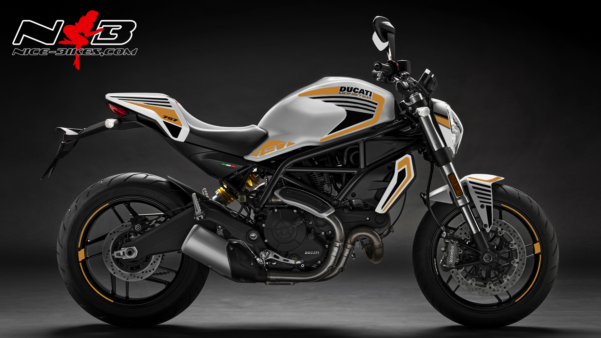 Foliendesign DUCATI  Monster 797 Bj. 2020 Olympic Gold