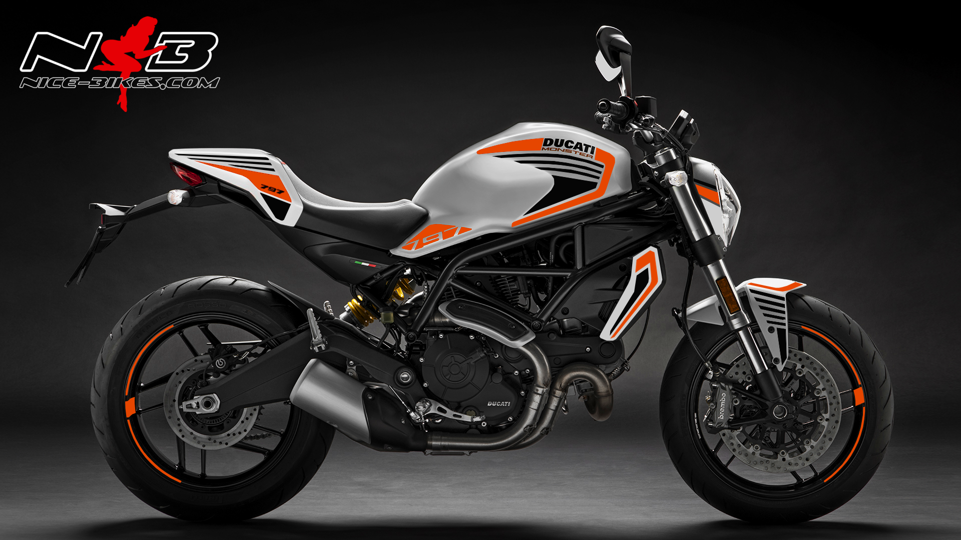 Foliendesign DUCATI  Monster 797 Bj. 2020 Evil Orange