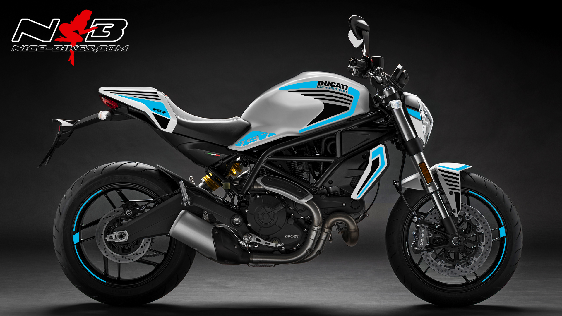 Foliendesign DUCATI  Monster 797 Bj. 2020 Light Blue