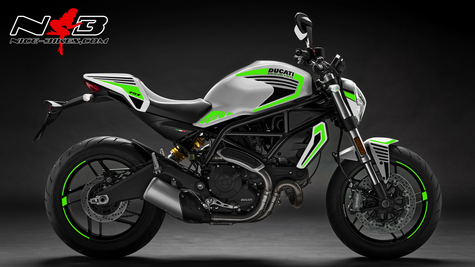 Foliendesign DUCATI  Monster 797 Bj. 2020 Lime Green