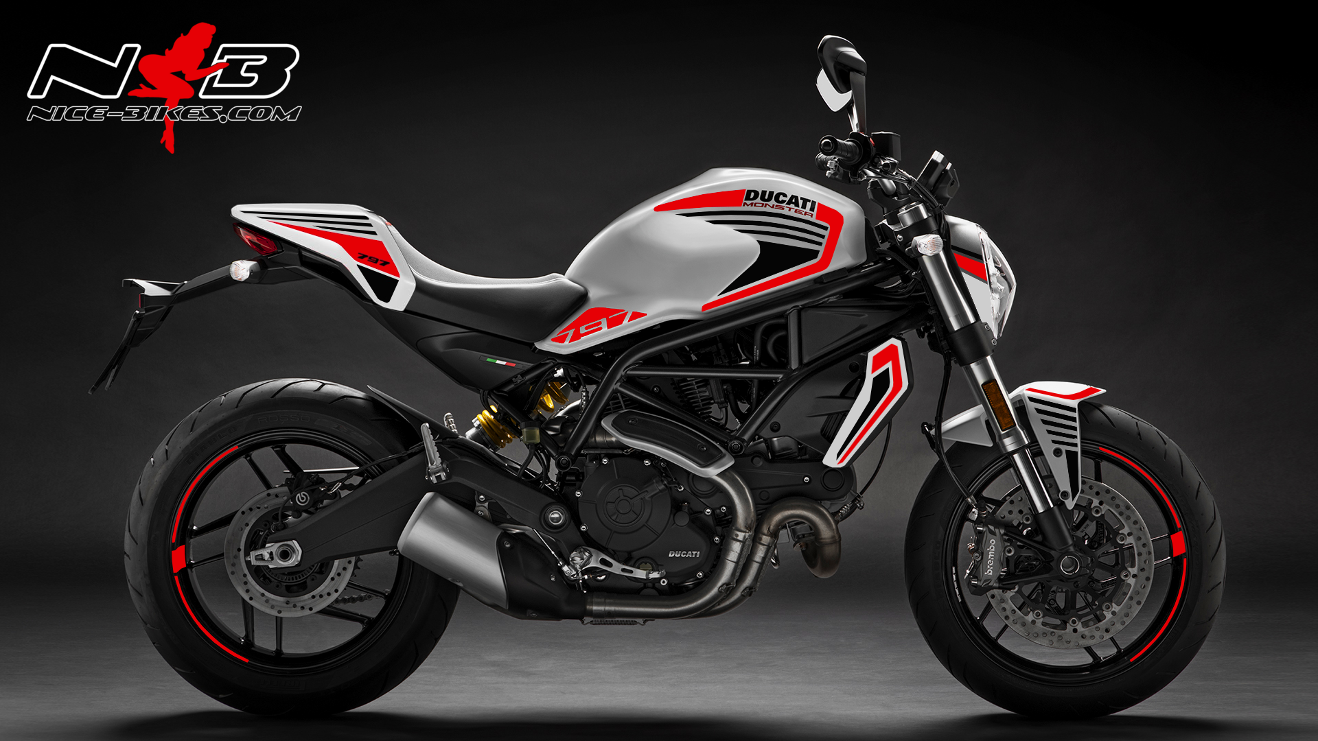 Foliendesign DUCATI  Monster 797 Bj. 2020 Racing Red