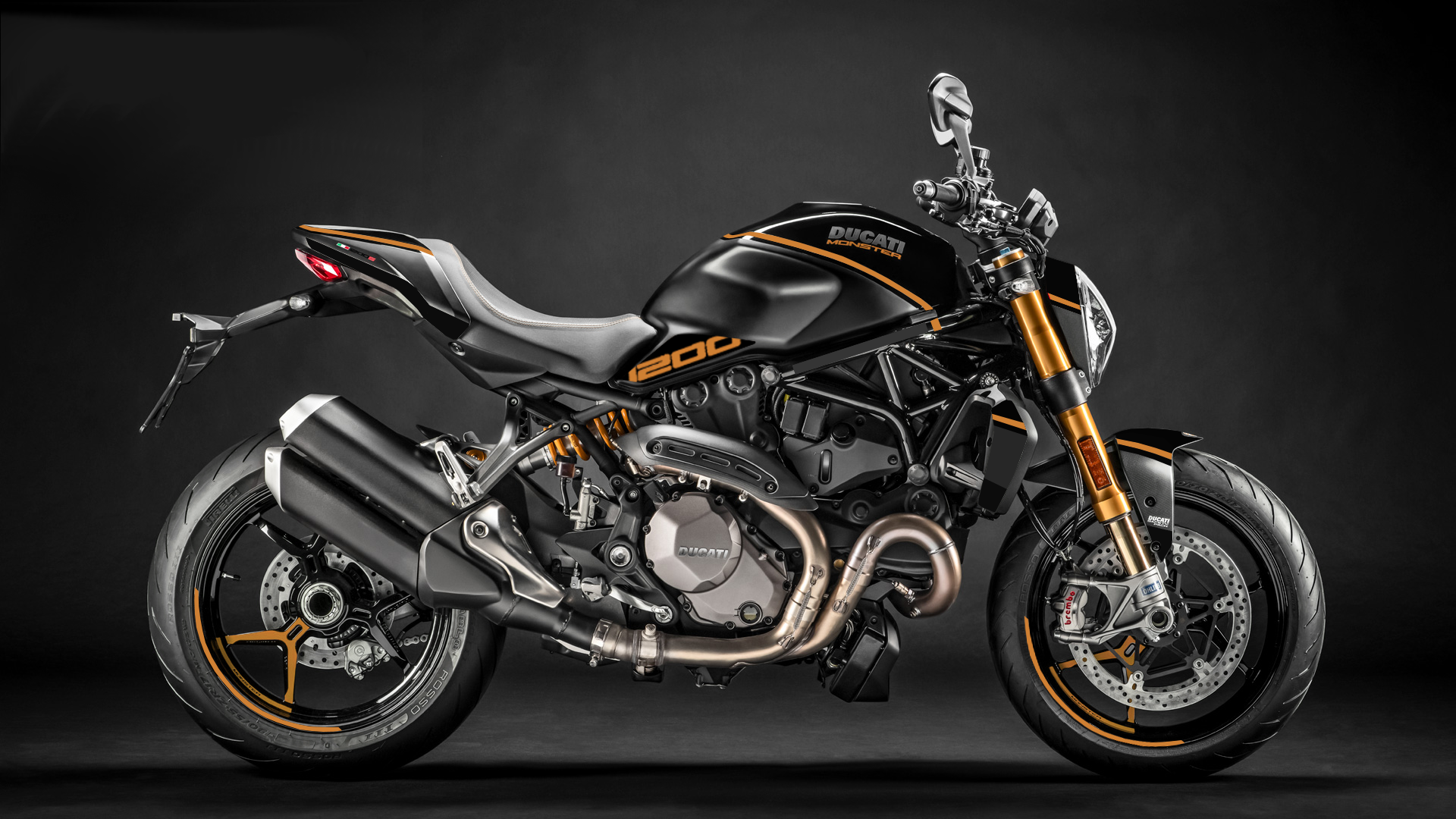 Foliendesign DUCATI  Monster 1200 Bj. 2020 Oylmpic Gold