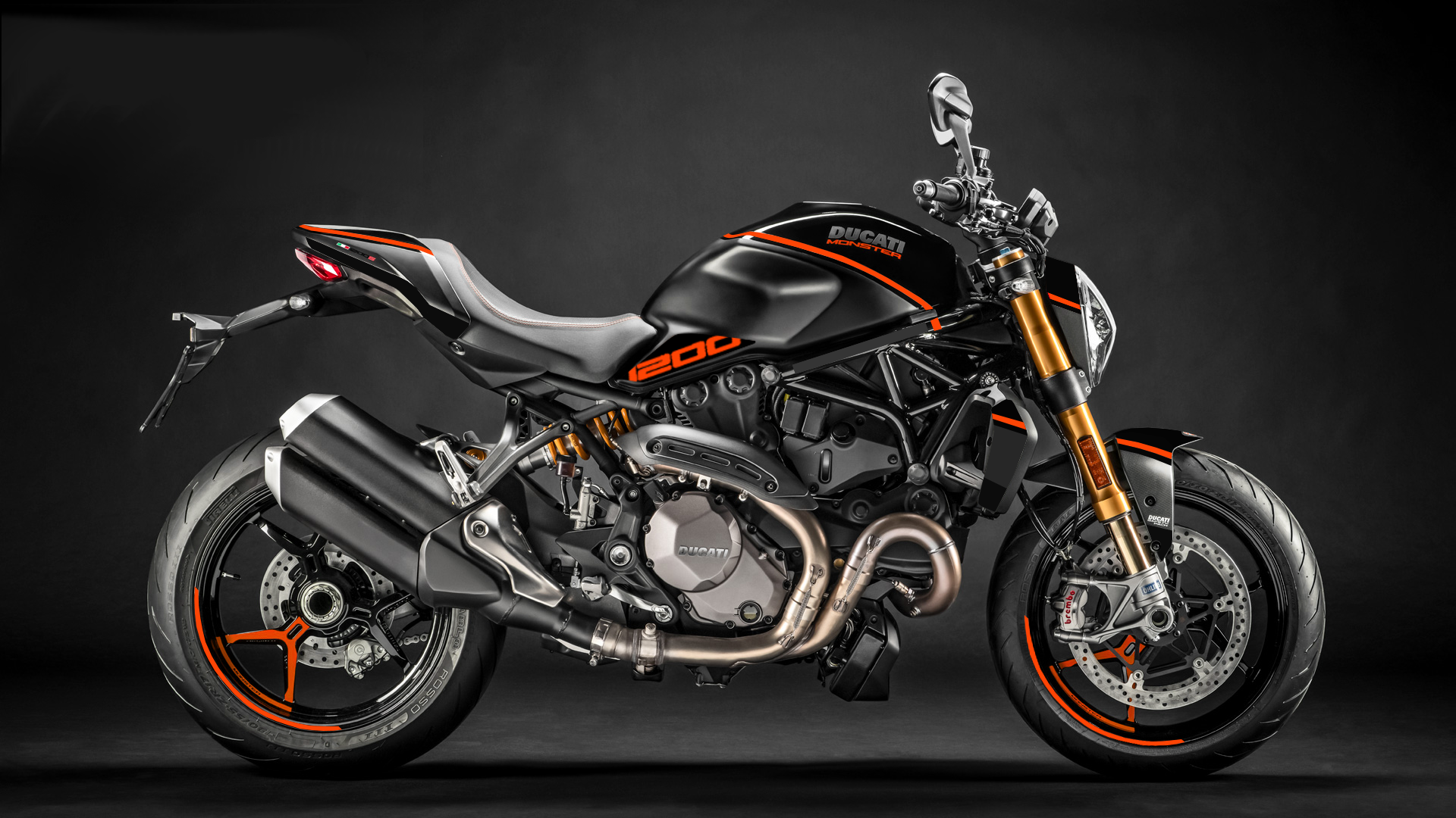Foliendesign DUCATI  Monster 1200 Bj. 2020 Evil Orange