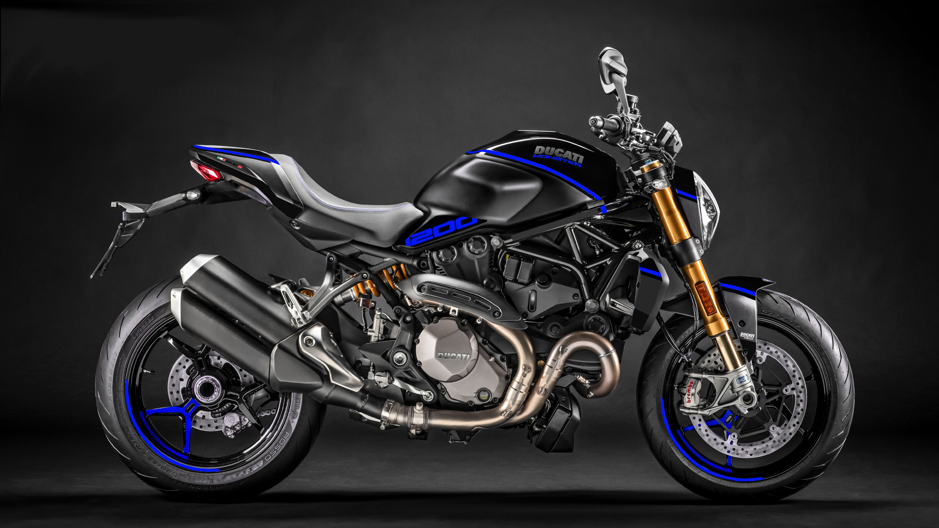 Foliendesign DUCATI  Monster 1200 Bj. 2020 Racing Blue