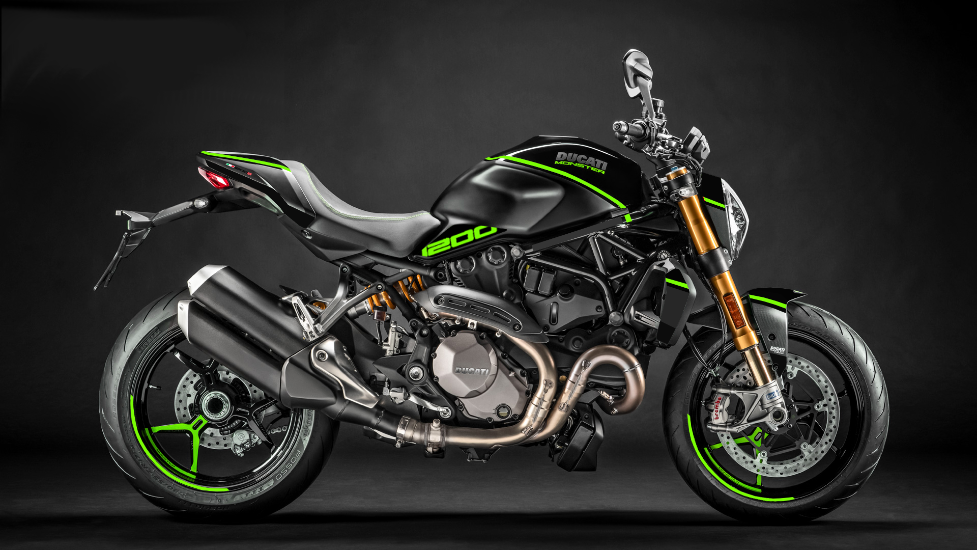 Foliendesign DUCATI  Monster 1200 Bj. 2020 Lime Green