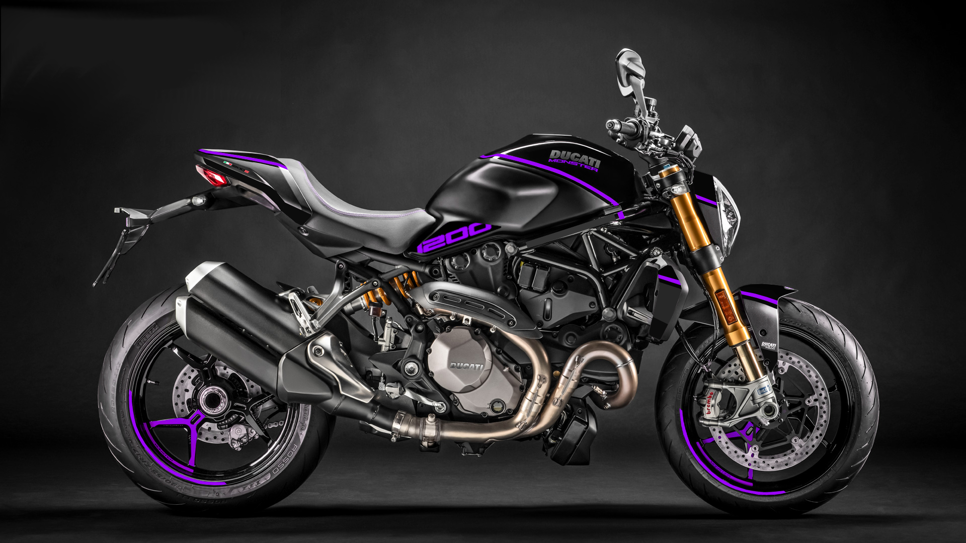 Foliendesign DUCATI  Monster 1200 Bj. 2020 Manga Violett